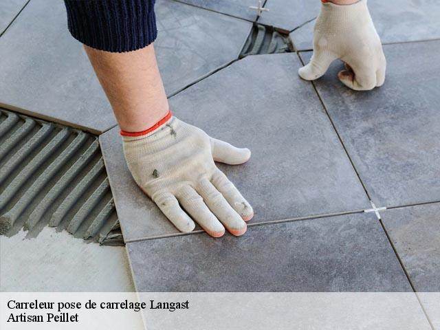 Pose de carrelage  22150